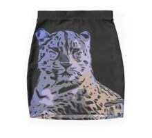 Ice Blue Tiger Abstract  Pencil Skirt