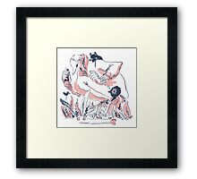 Go Out and Explore the World Framed Print