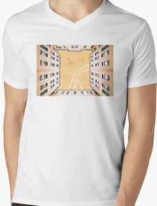 Bottom view to vintage old buildings T-Shirt