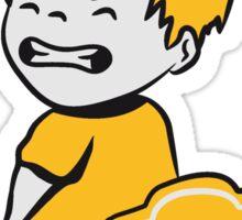press loo sweet little boy wc Sticker