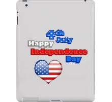 4th July happy independence day iPad Case/Skin