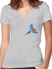THE ORIGINAL PARROT by Creachel Women's Fitted V-Neck T-Shirt