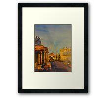 Streetscape Lancefield (watercolour) Victoria Australia Framed Print