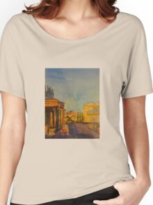 Streetscape Lancefield (watercolour) Victoria Australia Women's Relaxed Fit T-Shirt