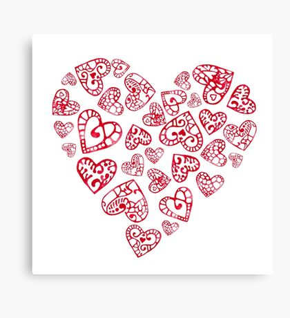 Heart love Canvas Print