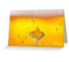 Drunk Fish Beer Fish Greeting Card