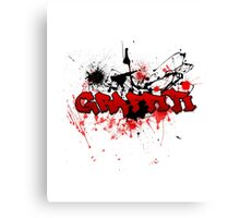 Graffiti theme and abstract background Canvas Print