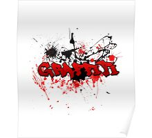 Graffiti theme and abstract background Poster