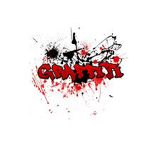Graffiti theme and abstract background Photographic Print