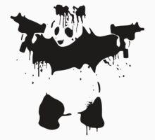 Panda Bear With Guns by lolotees