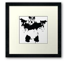 Panda Bear With Guns Framed Print