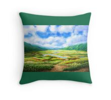 The Fields Are Teeming With Mellow Throw Pillow