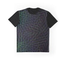 Dark Rainbow Geometric Lines Neo Geo Abstract Graphic T-Shirt