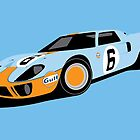 Jacky Ickx & Jackie Oliver 1969 Gulf Ford GT40 Le Man Car by F1Profiles