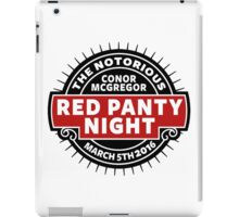 Conor Mcgregor, Red Panty Night iPad Case/Skin