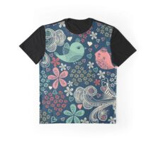 colorful floral pattern in doodle style Graphic T-Shirt