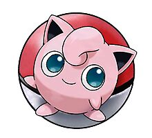 Jigglypuff pokeball - pokemon Photographic Print