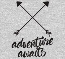 Adventure Awaits (cross arrows) One Piece - Short Sleeve