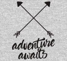 Adventure Awaits (cross arrows) One Piece - Long Sleeve