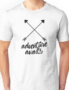 Adventure Awaits (cross arrows) Unisex T-Shirt