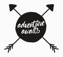 Adventure Awaits 2 (cross arrows) Kids Tee