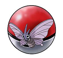 Venomonth pokeball - pokemon Photographic Print