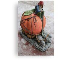 goblin driving pumpkin carriage  Canvas Print