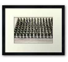 military teamwork Framed Print