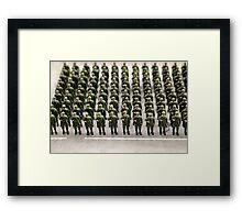 military teamwork Framed Print