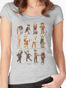 The Twelve Doctors of Christmas Women's Fitted Scoop T-Shirt