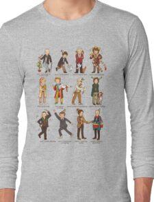 The Twelve Doctors of Christmas Long Sleeve T-Shirt