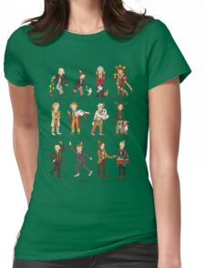 The Twelve Doctors of Christmas Womens Fitted T-Shirt