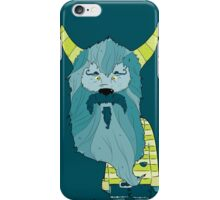 Scary Devil Monster with Blue Beard and Green Goat Horns iPhone Case/Skin