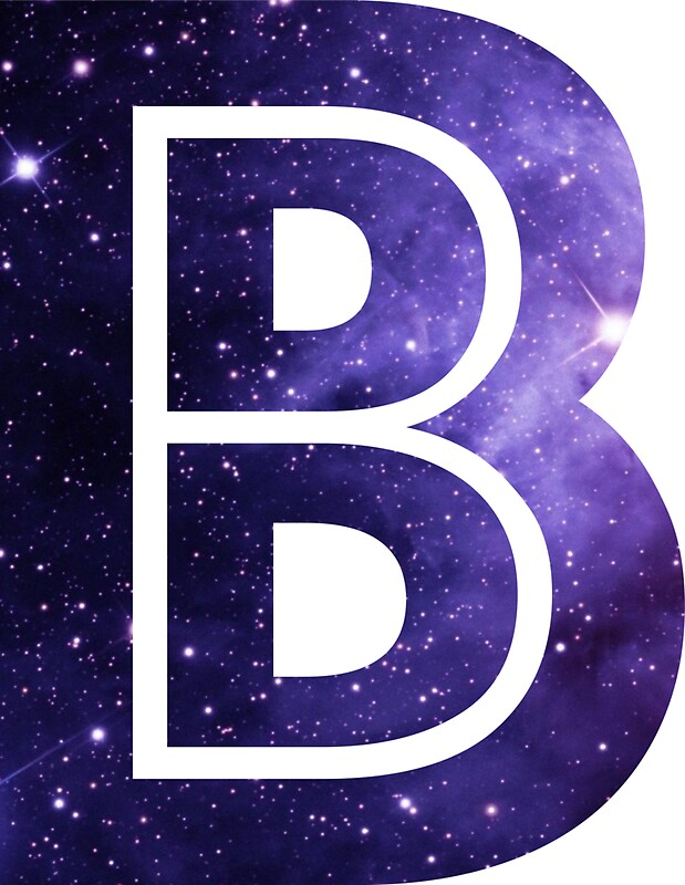 the letter b   space stickers by mike gallard redbubble
