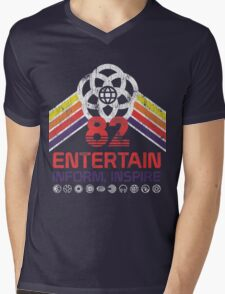 EPCOT Shirt - Distressed Logo - Entertain Inform Inspire Mens V-Neck T-Shirt