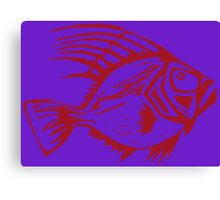 ST PETER FISH ( RED  ON VIOLET) Canvas Print