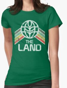 The Land Logo Distressed in Vintage Retro Style Womens Fitted T-Shirt
