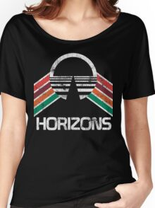 Vintage Horizons Distressed Logo in Vintage Retro Style Women's Relaxed Fit T-Shirt
