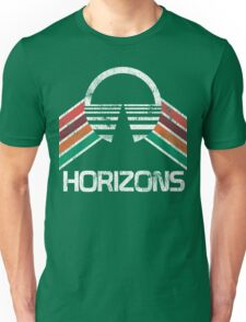 Vintage Horizons Distressed Logo in Vintage Retro Style Unisex T-Shirt