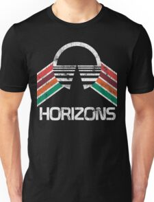 Vintage Horizons Distressed Logo in Vintage Retro Style Unisex T-Shirt