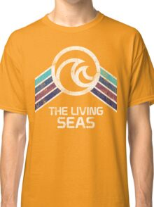 The Living Seas Distressed Logo in Vintage Retr Style Classic T-Shirt