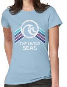 The Living Seas Distressed Logo in Vintage Retr Style Womens Fitted T-Shirt