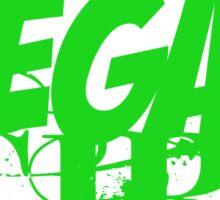Vegan Girl Edge Sticker