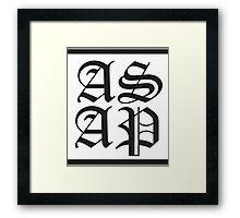asap worldwide 2 Framed Print