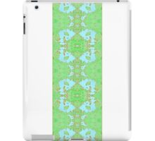 Green and Blue Ribbon Pattern iPad Case/Skin