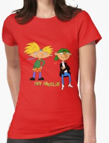 hey arnold Womens Fitted T-Shirt