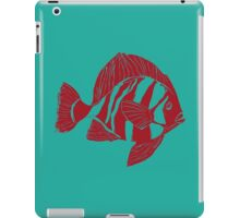 TROPICAL FISH ( RED  ON TOURQUOISE ) iPad Case/Skin