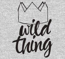 Wild Thing (black & white) Kids Tee