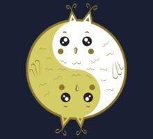 Cute owls yin yang Kids Tee