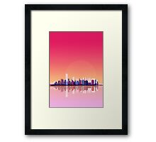 New york city landscape. Ny. Manhattan Framed Print